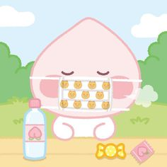 Apeach Kakao, Kakao Friends, Kawaii, Funny Wallpapers, Cute Illustration, Cute Designs, Cute Art, Chibi, Doodles