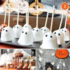 Halloween Birthday Party Ideas - should work well for carnival treats.  Must remember the dipped apple slices instead of the whole apple.  Would sell really well, and be cheap to make.