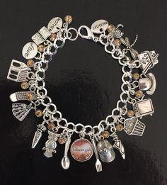 Gilmore Girls Charm Bracelet Stars Hollow Lorelai by MurderSheTote