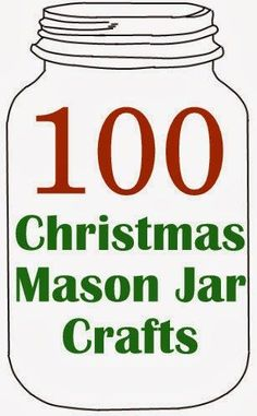 100 Christmas Mason Jar Crafts for you to make! Something for everyone in this collection.