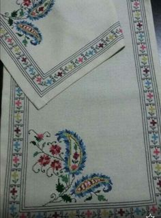 This Pin was discovered by Gül Just Cross Stitch, Cross Stitch Borders, Cross Stitch Flowers, Cross Stitch Designs, Cross Stitching, Cross Stitch Patterns, Hardanger Embroidery, Embroidery Art, Cross Stitch Embroidery