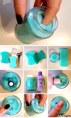 Super Easy Nail Polish Remover Jar. DIY, Pls Like!!