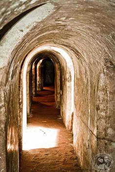 Tunnels In Castillo de San Felipe de Barajas by meandfrenchie, via Flickr