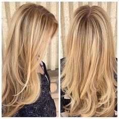 """""""After years of foiling McKenzie decided to give #balayage a try! Turned out so soft and dimensional! McKenzies go-to now for blondes. #highlights #blonde…"""""""