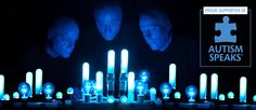 Blue Man Group proudly supports Autism Speaks.   As part of a year long partnership with Autism Speaks, Blue Man Group will donate a minimum of $25,000 toward autism awareness efforts and research to benefit families affected by autism.