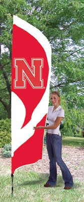 Nebraska Cornhuskers Team Pole Flag