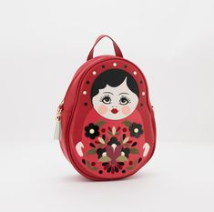 Who could resist such a beautiful Matryoshka Doll Backpack? All the way from England we just had to share this gorgeous collection with you!  This very clever Miss, can switch from a crossbody bag to a backpack simply by readjusting the straps ♥️ Plus she's vegan approved, crafted from animal friendly faux leather 😍 Collect the set - Find her and her family in store or online via the link in our bio xx