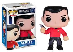 """""""Beam me up, Scotty"""" This awesome Star Trek POP! Vinyl Figure featuring Scotty stands 3 3/4 Inch tall and is perfect for fans and collectors. """"Live long and prosper"""" and don't miss out on our other St"""