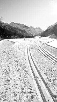 cross-country ski rail in austria