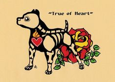 Day of the Dead Dog PIT BULL Dia de los Muertos by illustratedink