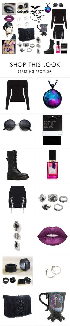 """""""Casual 2"""" by banasheeanni ❤ liked on Polyvore featuring A.L.C., John Lewis, Dr. Martens, Diana Vreeland Parfums, Lime Crime, NOVICA and Disney"""