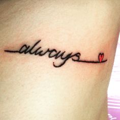 New Harry Potter rib tattoo, Snape loves Lilly Always