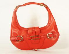 360.00 Jimmy Choo Coral Leather Shoulder Bag