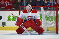 VANCOUVER, BC - NOVEMBER Carey Price of the Montreal Canadiens warms up before their NHL game against the Vancouver Canucks at Rogers Arena November 2018 in Vancouver, British Columbia, Canada. (Photo by Jeff Vinnick/NHLI via Getty Images) Goalie Pads, Hockey Goalie, Ice Hockey, Nhl Games, Vancouver Canucks, November 17, Montreal Canadiens, British Columbia, Canada