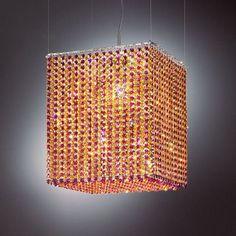 Masiero Aurea 5 Light Pendant Finish: Chrome, Crystal Color: Purple, Crystal Type: Swarovski