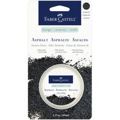 Faber Castell *Design Memory Craft* Asphalt Texture Paste - Scraps of Darkness and Scraps of Elegance - The essential tools and accents to complete your mixed media projects! Add amazing texture and backgrounds to scrapbook layouts, handmade cards, and canvas. A coarse, dark, heavy weight paste. Asphalt contrasts well with bright and metallic mediums.Dries to an opaque matte finish.
