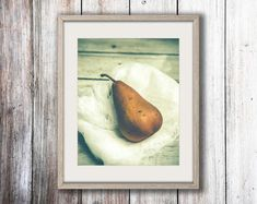Modern Rustic Wall Art  Fruit Art Print  Pear by joystclaire