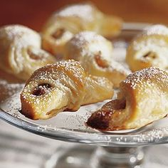 Rugelach with Apricot and Pistachio Filling recipe. In making these rugelach cookies, the most time consuming step is waiting for the dough to firm up in the refrigerator. The result, however, is sweet and delicious enough to justify the wait. Jewish Desserts, Fall Desserts, Whole Food Recipes, Cookie Recipes, Tart Recipes, Yummy Treats, Sweet Treats, Rugelach Recipe, Holiday Baking