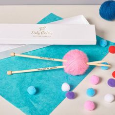 Personalised Knitting Needles With Box   Etsy Knitting Projects, Knitting Patterns, Emily Parker, Sister Christmas Presents, Wooden Knitting Needles, Gift Card Printing, Knitted Bags, Miniature Dolls, Personalized Gifts