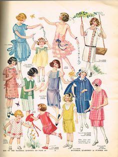 Butterick Summer 1924 Quarterly Sewing Pattern Catalog 87 pg E-book on CD Moda Vintage, Vintage Mode, Vintage Girls, Vintage Children, Vintage Outfits, Vintage Fashion, Fashion 1920s, Vintage Dresses, Patron Vintage