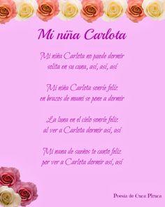 Cuca Piruca: Mi niña Carlota Poesias personalizadas