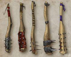 Concept art: 80 концептов оружия для проекта «Солнце» by Roman Guro