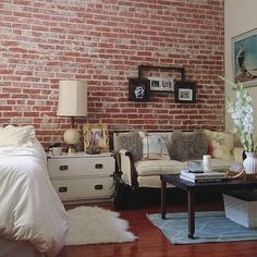 Brick wall as an accent