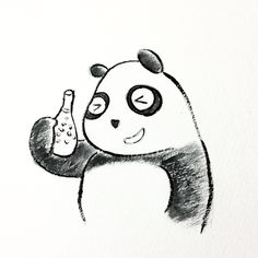 【一日一大熊猫】 2014.10.28 ヨーロッパではPerrier(ペリエ)を置いていない 飲食店は無いと言われているらしいね。 #ペリエ #パンダ