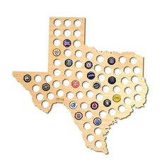 The absolute best gift for any adventurous beer lover, this Texas beer cap holder is exactly what you need to show off all of your local or out of state brewery caps. Available in all 50 states, this map of Texas beer cap map allows you to display be Beer Bottle Caps, Beer Caps, Christmas Gifts For Men, Holiday Gifts, Unique Gifts, Best Gifts, Finishing Nails, How To Make Beer, Groomsman Gifts