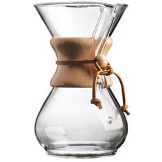 Chemex coffee maker, 6 cups.