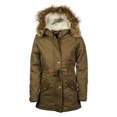 Meiden lange army winterjas van het merk Retour Jeans, super stoer en heerlijk warm   #meisjes #winterjas #kindermode #winter #leger   www.kienk.nl