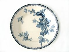 French vintage blue transferware footed fruit / by Chanteduc