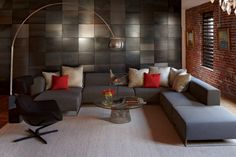 Elegant Living Rooms for Home and Interior Designs : Contemporary Living Room With L Shaped Sofa Furniture L Shaped Living Room, Living Room Sets, Living Room Decor, Elegant Living Room, Living Room Modern, Living Spaces, Sofa Furniture, Luxury Furniture, Interior Design Living Room