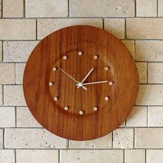 Teak Furniture 北欧スウェーデンTEAKチーク壁掛け電波時計 インテリア 雑貨 家具 Modern ¥16000yen 〆10月22日