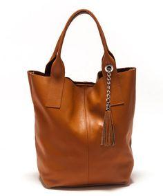 Cognac Leather Hobo
