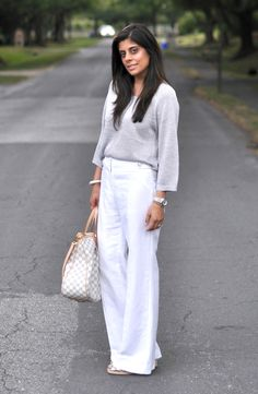 Showing post & media for White linen pants outfit ideas | www ...