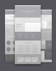 Optimized Landing Page Product Website wireframes by Website Design Inspiration, Website Design Layout, Web Layout, Layout Design, Web Design Mobile, Web Ui Design, Page Design, Design Design, Flat Design