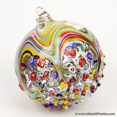 Venetian Mosaic Murano Glass.Christmas Ornament Christmas Ornaments To Make, Christmas Bulbs, Christmas Stuff, Merry Christmas, Christmas Decorations, Venetian Glass, Murano Glass, Heart Ornament, Glass Animals