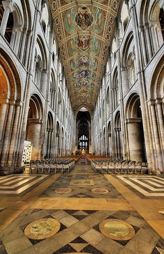 """Ely Cathedral, by Nick Garrod.  Built in the 12th century  """"The Ship of the Fens"""", formally called Cathedral Church of the Holy and Undivided Trinity - at Ely, Cambridgeshire, England, UK. via Flickr."""