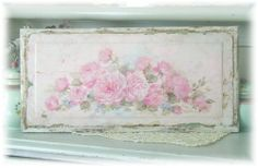 Antique Yardlong Roses Panel