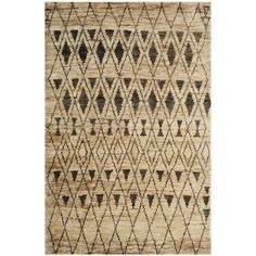 Safavieh Hand-knotted Tangier Ivory/ Black Wool/ Jute Rug (5' x 8') - Free Shipping Today - Overstock.com - 15611492 - Mobile