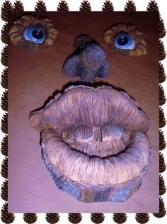 eBlueJay: Large, Funny, Spooky, Toothy Grin, Forest Tree Face Design, Tree art, Decorate Your Yard, Garden