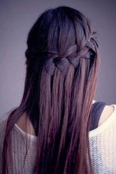 water fall braid so cute for when I grow my hair out!
