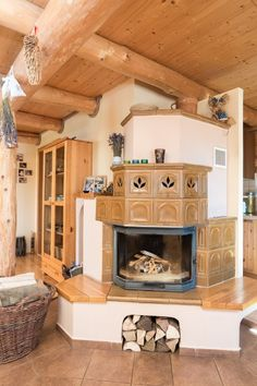 krbová kamna ve srubu Cozy Corner, Tiny House Plans, Scandinavian Home, Cottage Style, My Dream Home, My House, Building A House, Architecture Design, Diy Home Decor