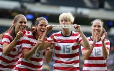 Upon scoring during the USA vs COL Olympic match, Megan Rapinoe holds up birthday tribute of sorts to injured teammate Ali Krieger.