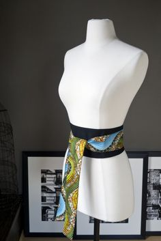 obi belt with african fabric