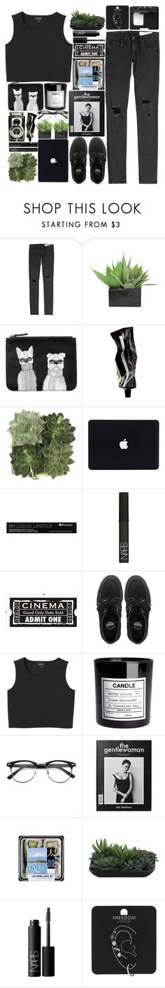 """""""Lights off when they should be on Even stars in the sky look wrong."""" by onedirectiondress ❤ liked on Polyvore featuring rag & bone, Lux-Art Silks, Monki, Aesop, Jayson Home, NARS Cosmetics, WALL, Underground, H&M and Topshop"""