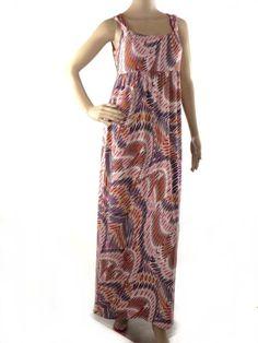 Isabella DeMarco Tahari Levine Women's Size S Full Length Maxi Dress Multi-Color #IsabellaDeMarcoTahariLevine #Maxi #Casual
