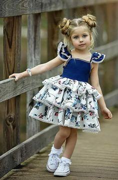VOGUE ENFANTS: Must Have of the Day: Dollcake most popular design is back and better than ever! Girls Party Dress, Little Girl Dresses, Baby Dress, Girls Dresses, Toddler Girl Dresses, Party Dresses, Kind Mode, Kids Wear, Kids Girls