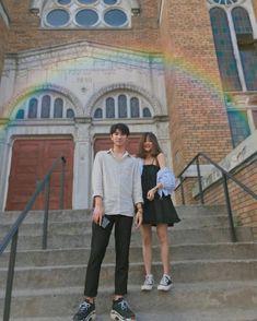 Save = Follow • Mei Mei • Ulzzang Couple, Ulzzang Girl, Girl Photo Poses, Girl Photos, Cute Couples Goals, Couple Goals, Ulzzang Korea, Adventure Couple, Korean Couple